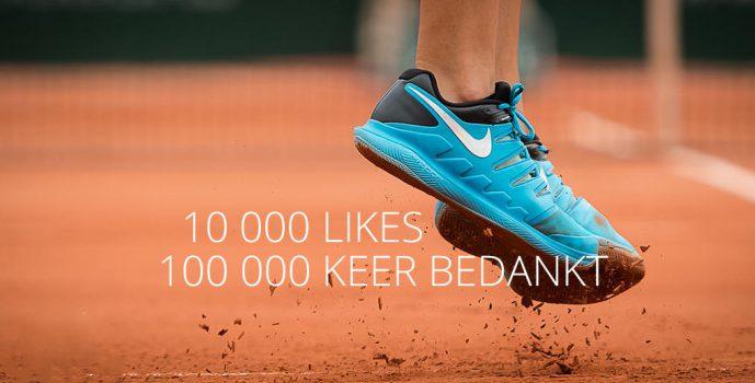 Tennisplaza haalt magische kaap van tienduizend likes op facebook