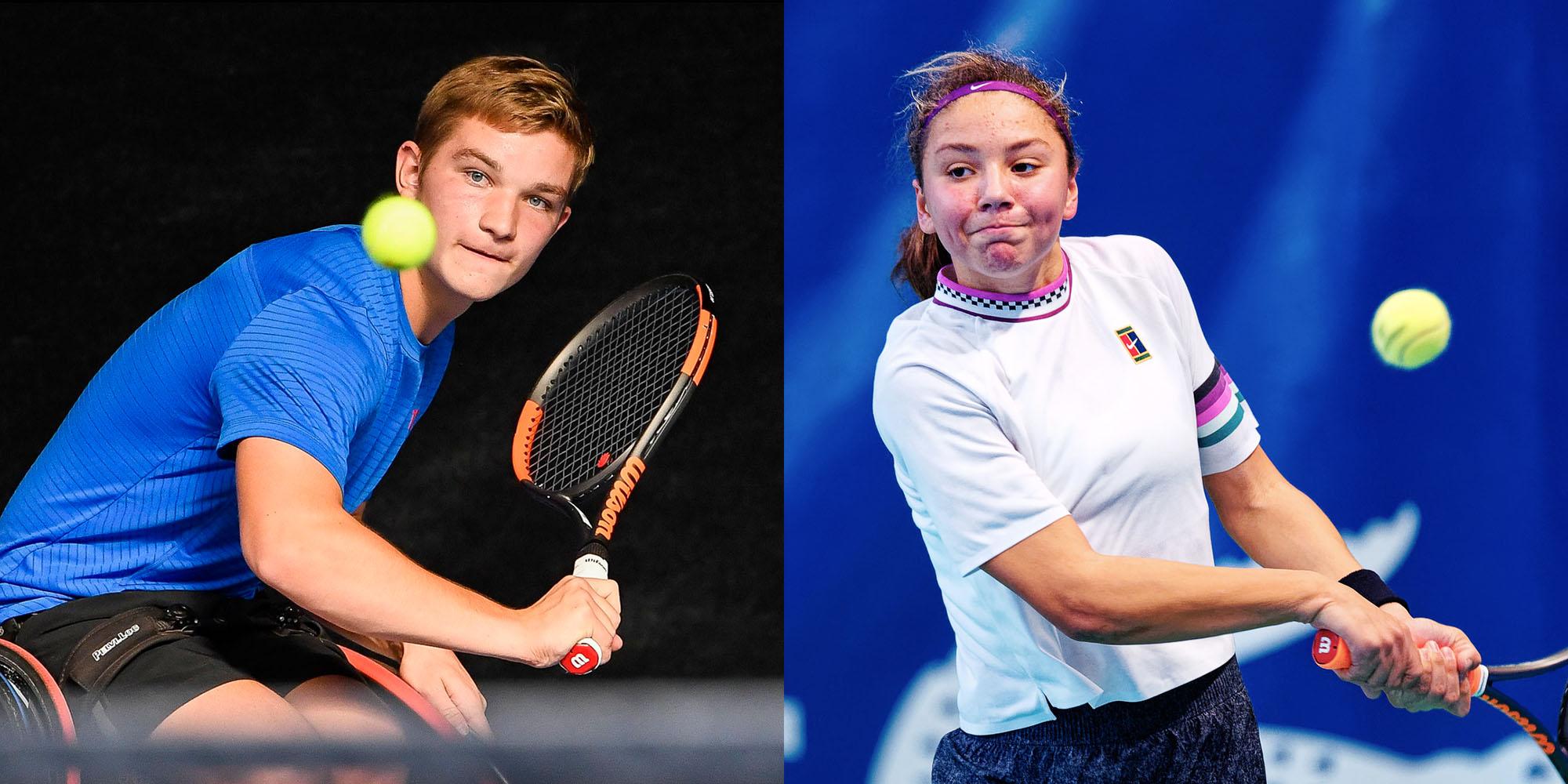 Tennisbeloften Jef Vandorpe en Sofia Costoulas kiezen voor Largus